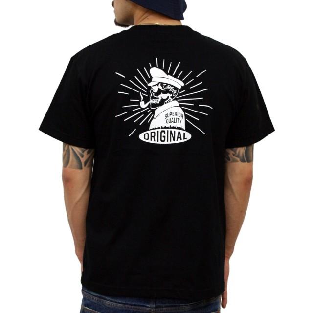 (コンフューズ)CONFUSE tシャツ メンズ 大きいサイズ メンズ アイコン スカル ブランド ロゴ プリント 半袖 ドクロ cfst2917 (XXL,BLACK)