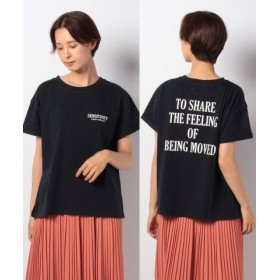 (nano・universe/ナノ・ユニバース)BALMY DAY'S/別注ロゴTシャツ/レディース ブラック