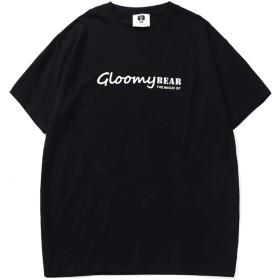 Pizoff(ピゾフ) メンズ 半袖Tシャツ バックプリント 大きいサイズ b系 ストリート ダンスウェア 男女兼用 夏 カットソーAC175-Black-L