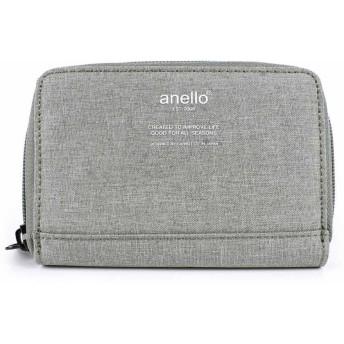 anello レディース 財布 二つ折り 小銭入れ コンパクト (グレー) [並行輸入品]