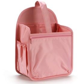 HyFanStr バッグインバッグ リュック タテ型 A4 A5自立 軽量 レディース インナーバッグ ナイロン 収納整理 撥水 出勤 bag in bag エビレッド L