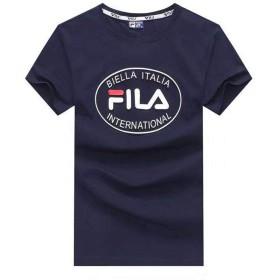 FILA フイラメンズ 半袖 Tシャツ シンプル トップス オシャレカットソー FILA SHIRT (XXL, ホワイト)