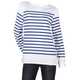 [ セントジェームス ] Saint James ナヴァル メンズ レディース 長袖 ボーダー バスクシャツ ボートネックシャツ ホワイト×ジタン NAVAL Neige/Gitane Tシャツ カットソー トップス ナバル [並行輸入品]