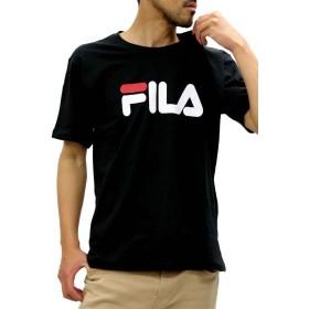 [フィラ] 大きいサイズ メンズ Tシャツ ブランドロゴ ブラック 3L