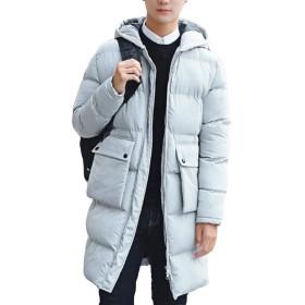 (ニカ) ダウンコート メンズ ベンチコート フード付き 防寒コート ダウンジャケット ジャケット ライトダウン ロング丈 ビジネス アウター 綿服 暖かい 修身 冬ホワイトT5