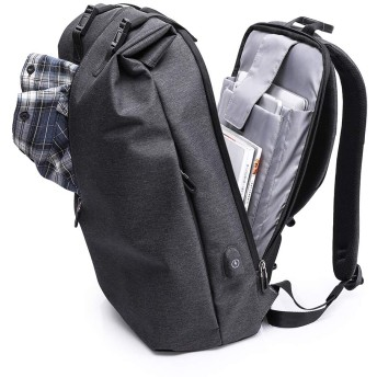 バックパック防水 大容量 軽量 15.6インチ PC リュック USB充電ポート付き ノートパソコン ビジネスリュック 多機能 通勤 通学 アウトドア ブラック (ブラック)