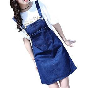 [リュハイ] カウボーイ スカートスカート レディーズ スリング 半分の長さ ドレス 薄い ショートスカート ディープブルーM