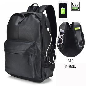 EIMEI レザー リュック リュックサック 通勤 通学 バッグパック デイパック 男女兼用 大容量 レディース メンズ (Big, 013#ブラック)