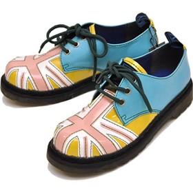 YOSUKE U.S.A ヨースケ 靴 レースアップシューズ ユニオンジャック おでこ靴 ゴスロリ コスプレ ロック パンク (【L】23.5~24.0cm, マルチコンビ)