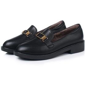 [KYUNEKY12] パンプス 学生 ローヒール メタル フェミニン ブラック シューズ キレイ スリッポん 身長アップ ローファー スクエア オシャレ 柔らか 疲れない 22.0cm バックル 紐靴ローカット フォーマル エレガント 履きやすい 安定感 シンプル クラシック