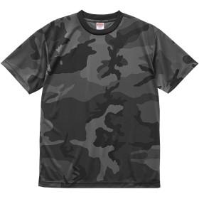 [エムエイチエー] M.H.A.style 4.1オンス ドライ アスレチック カモフラージュ Tシャツ メンズ 11093 B.ブラックウッドランド