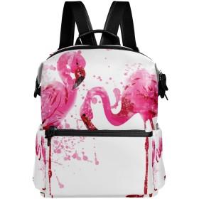 AOMOKI リュックサック バッグ メンズ レディース 男女兼用 通勤 通学 大容量 ファッション おしゃれ 開学 多機能 ギフト プレゼント フラミンゴ ピンク 鳥柄