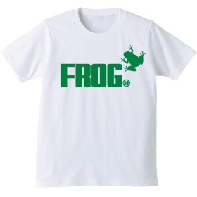 カエル Tシャツ 【はりつき】【白T】【L】/K3/ PRIME
