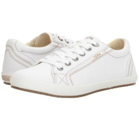 taos Footwear(タオス) レディース 女性用 シューズ 靴 スニーカー 運動靴 Star - White Canvas 8 M [並行輸入品]