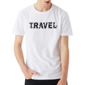 NUBILY tシャツ メンズ 白 無地 カットソー 半袖 夏服 コットン 涼しい シャツ 夏 綿 クルーネック Tシャツ ブラック ホワイト ティーシャツ