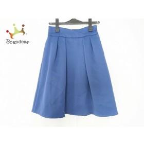 ジャスグリッティー JUSGLITTY スカート サイズ2 M レディース 美品 ネイビー 新着 20190719