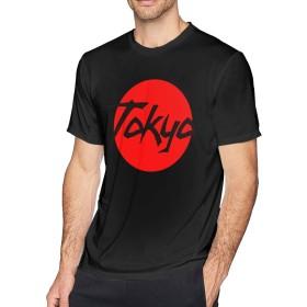 Tシャツ Man 日本 国旗 Tokyo 半袖 無地 ビジネス スポーツ 丸えり 春夏秋 柔らかい 格好いい S~6XL