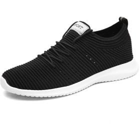 [STQ] JX889heise46 メンズ スニーカー カジュアル ウォーキングシューズ 軽量 スリッポン ランニングシューズ 通気性抜群 日常着用 通勤 歩きやすい トレーニングシューズ 運動靴