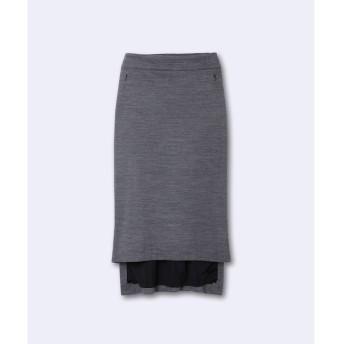 【スーペリアクローゼット/SUPERIOR CLOSET】 《INED international collection》ウールアビガイルポンチバックロングスカート