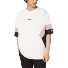 [ウィゴー] 別注FILA レジメ切替Tシャツ(S) L ベージュ