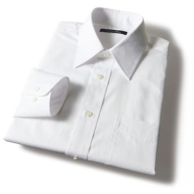 60%OFF【メンズ】 形態安定衿型バリエーションYシャツ(すっきりシルエット) - セシール ■カラー:ホワイトA(レギュラー衿) ■サイズ:50(裄丈88)