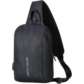 斜め掛け ボディバッグ ワンショルダー メンズ 防水 保冷 軽量 iPad収納可 USBポート付き 斜め掛けバッグ ワンショルダーバッグ 大容量 乾式および湿式分離 通勤通学 自転車に IKUKA