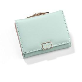 [HSFEO]短財布 レディース がま口 シンプル バックル付き 三つ折り 手のひら お札入れ コイン入れ 小銭入れ コンパクト 多機能 おしゃれ 軽量 大容量 ウォレット カードパッケージ 女性用 プレゼント グリーン