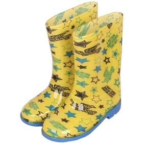 [STYLISH] レインシューズ キッズ 長靴 女の子 レインブーツ 子供レインブーツ 雨靴 ジュニア 防水 雨具 防水 軽量 梅雨対策 通園 18cm 20cm 22cm (18cm, イエロー)