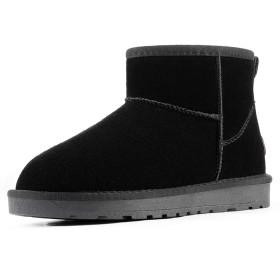 [SAKATA] ムートンブーツ レディース ショートブーツ 靴 大きいサイズ 抗菌防臭 防寒 撥水 ショート丈 ブラック 26センチ