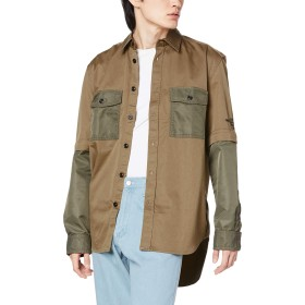 (ディーゼル) DIESEL メンズ シャツ 2WAYデザインシャツ 00SV790PAVK XXL カーキ 58W