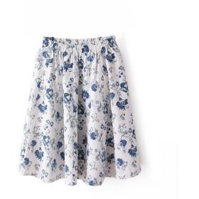 PoonStylingレディース弾性ウエストバンド花柄ショートスカートAラインフレア付きソフトミニスカート (14)