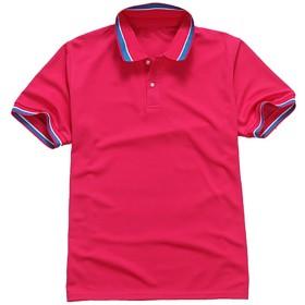 (エフバイフォー) F×4 メンズ ポロシャツ 半袖 Tシャツ シンプル 無地 ゴルフ ポロ poloシャツ ゴルフシャツ スポーツ カジュアル カラフル トップス 大きい サイズ FMT037 ピンク 2XL