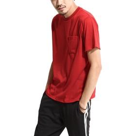 [ジップファイブ] ZIP FIVE Tシャツ リコテック 防臭 UVカット 半袖 カットソー 無地 メンズ 6RED XL