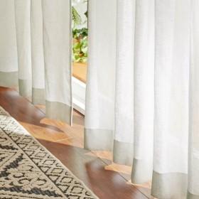 カーテン 安い おしゃれ レースカーテン ベルメゾンデイズ 心地よい透け感を味わう。素朴な風合いの綿麻ボイルカーテン