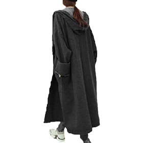 Heaven Days(ヘブンデイズ) デニムコート スプリングコート 春秋コート ジャケット 無地 フード付き ロング レディース 1802D0646 (S, ブラック)