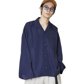 (アンリラクシング) Unrelaxing ベーシックオープンカラー長袖シャツ アロハロングスリーブシャツ UR-559 FREE ネイビー UR-559_NV01F001