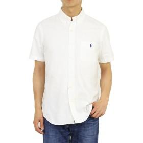 (ポロ ラルフローレン) POLO Ralph Lauren メンズ オックスフォード 無地 ボタンダウン 半袖シャツ ポケット ワンポイント刺繍 0104373-XL-WHITE [並行輸入品]