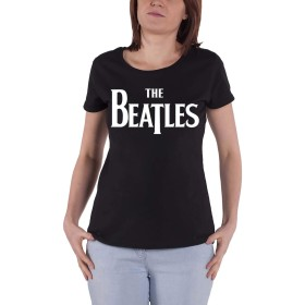 The Beatles T Shirt Drop T Logo 新しい 公式 レディーズ Skinny Fit Size M