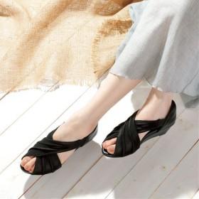 美歩人エレガンスサンダル - セシール ■カラー:ブラック ■サイズ:L(24.0-25.0)