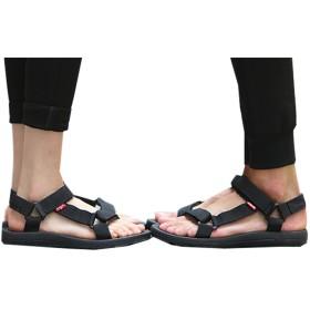 [イダク] レディース サンダル ファッション ビーチサンダル カジュアル おしゃれ カップル 日本 人気 サンダルブラック23.0cm