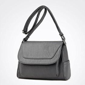 RBBB バッグ女新金百乗り簡素なショルダーバッグファッション女性バッグ韓国版レジャー中年女性バッグ,灰色
