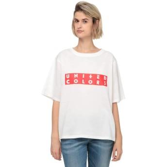 [ユナイテッドカラーズオブ ベネトン] トップス ロゴラバープリントTシャツ レディース ホワイト S