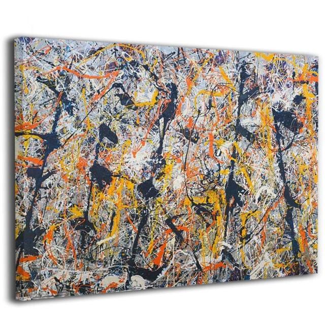 Zetena ジャクソン ポロック アートパネル アートフレーム キャンバス絵画 壁飾り絵画 ポスター インテリア絵画 インテリア装飾 壁飾り木枠セット モダン 新築飾り 贈り物