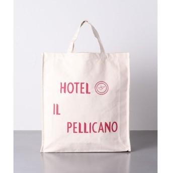 UNITED ARROWS / ユナイテッドアローズ <HOTEL IL PELLICANO(ホテル イル・ペリカーノ)>ロゴ トートバッグ