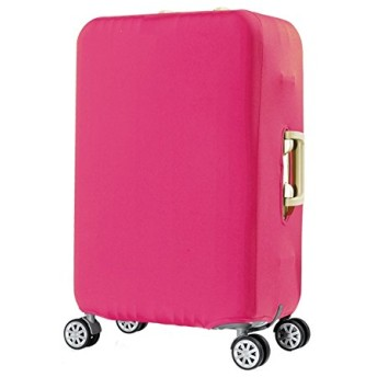 [ARTASY WORKSHOP®][並行輸入品] スーツケースカバー(カバーのみ) 伸縮素材 ラゲージカバー 保護カバー ラゲージプロテクター (L, ピンク)