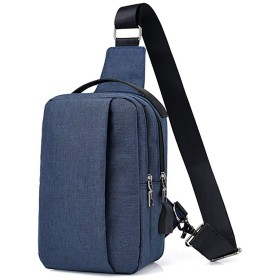 [Pirosun] 斜め掛け ショルダーバッグ メンズ レディース USBポート付き (ブルー)