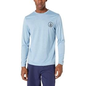 [ボルコム] [メンズ] 長袖 ラッシュガード Tシャツ (UVカット)[ N0311901 / Lido Heather L/S ] 海 おしゃれ 水陸両用 VBL_ブルー US L (日本サイズL相当)