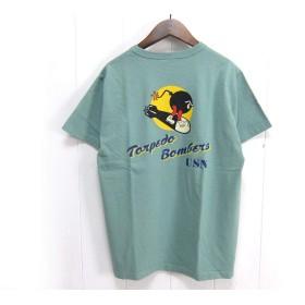 "BuzzRickson's バズリクソンズ BR78291 半袖Tシャツ""U.S.N. VT-2"" サイズL セージグリーン(148)"