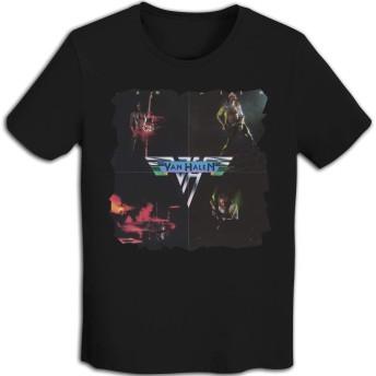 メンズ Tシャツ 半袖 おしゃれ ヴァン・ヘイレン Van Halen プリント スポーツ着 ブラック XXL