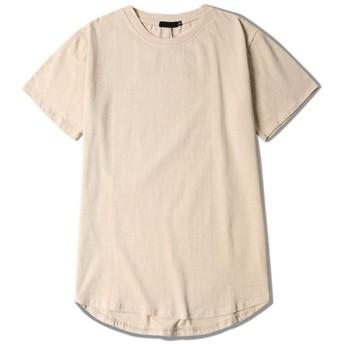 (ティーエヌケーカンパニー)Tnk&Co. メンズ 半袖 Tシャツ 丈長 厚手 5.6オンス #1947 綿100 無地 ロング丈 (M, ベージュ)